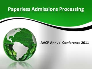 Paperless Admissions Processing