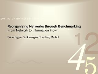 Reorganising Networks through Benchmarking From Network to Information Flow Peter Egger, Volkswagen Coaching GmbH