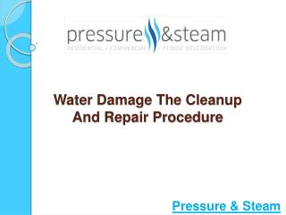 Water Damage-The Cleanup and Repair Procedure