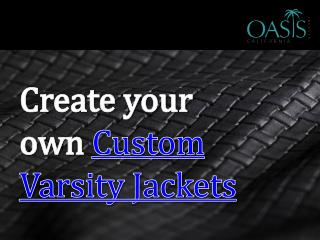 Create Your Own Custom Varsity Jackets