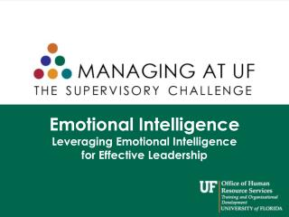 Emotional Intelligence Leveraging Emotional Intelligence  for Effective Leadership