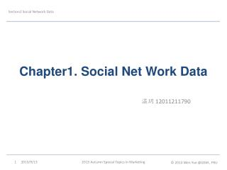 Chapter1. Social Net Work Data