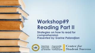 Workshop#9 Reading Part II