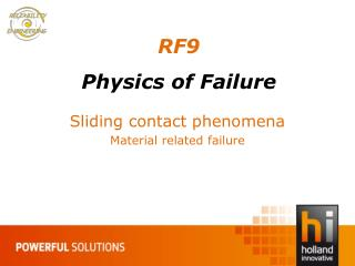 R F9 Physics of Failure