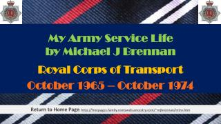 My  Army  Service  Life by Michael J Brennan