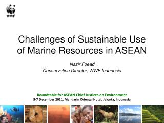Challenges of Sustainable Use of Marine Resources in ASEAN