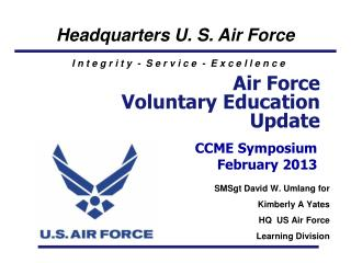 Air Force  Voluntary Education Update