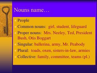 Nouns name…