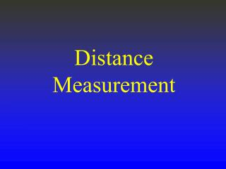 Distance Measurement