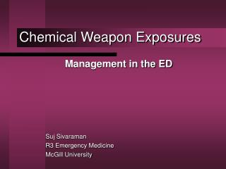 Chemical Weapon Exposures
