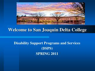 Welcome to San Joaquin Delta College