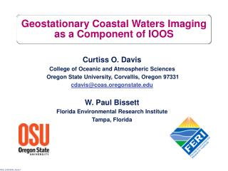 Geostationary Coastal Waters Imaging as a Component of IOOS