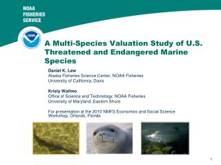 A Multi-Species Valuation Study of U.S. Threatened and Endangered Marine Species