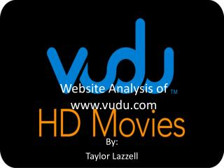 Website Analysis of  www.vudu.com