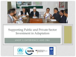 Supporting Public and Private Sector Investment in Adaptation