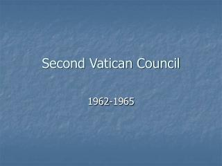 Second Vatican Council