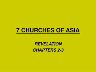 7 CHURCHES OF ASIA