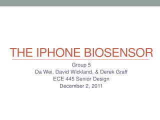 The  Iphone  biosensor