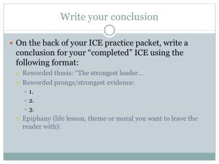 Write your conclusion