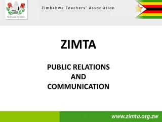 ZIMTA PUBLIC RELATIONS AND COMMUNICATION