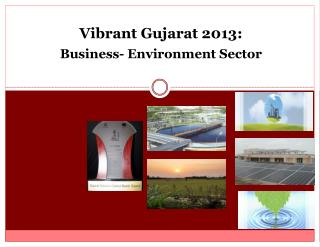 Vibrant Gujarat 2013: Business- Environment Sector