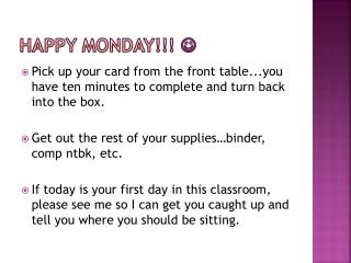 Happy Monday!!!  