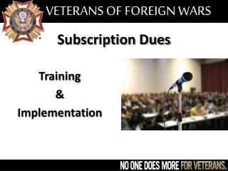 Subscription Dues