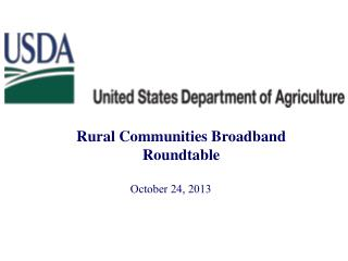 Rural Communities Broadband Roundtable