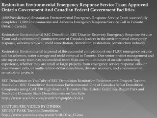 PPT - Restoration Environmental Emergency Response Service Team Ap
