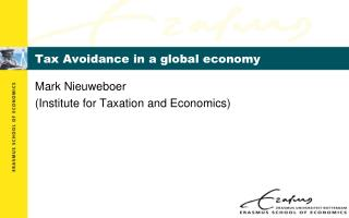 Tax Avoidance in a global economy