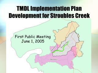 TMDL Implementation Plan Development for Stroubles Creek
