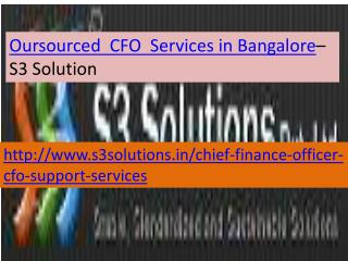 S3 Solution Oursourced CFO Services in Bangalore