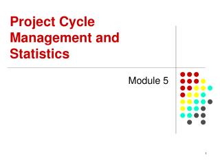 Project Cycle Management and Statistics