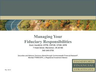 Managing Your  Fiduciary Responsibilities