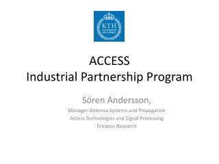ACCESS  Industrial Partnership Program