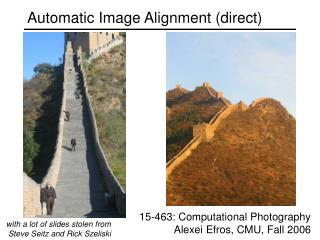 Automatic Image Alignment (direct)