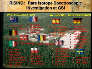 RISING: 	Rare Isotope Spectroscopic      INvestigation at GSI