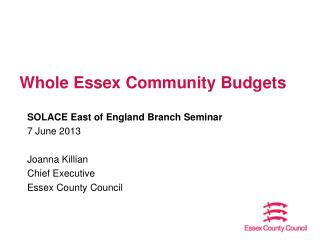 Whole Essex Community Budgets