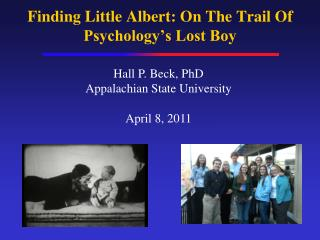 Finding Little Albert: On The Trail Of Psychology's Lost Boy