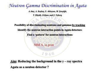 Neutron Gamma Discrimination in Agata