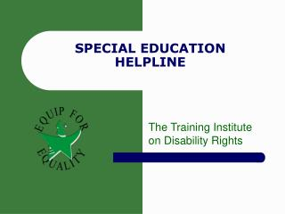 SPECIAL EDUCATION HELPLINE