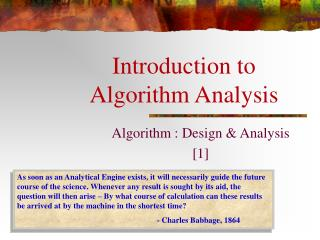 Introduction to Algorithm Analysis