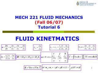 MECH 221 FLUID MECHANICS (Fall 06/07) Tutorial 6