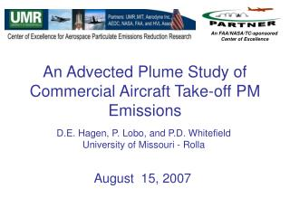 An Advected Plume Study of Commercial Aircraft Take-off PM Emissions