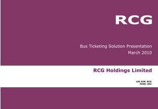 RCG Holdings Limited