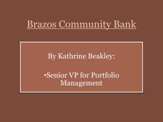 Brazos Community Bank
