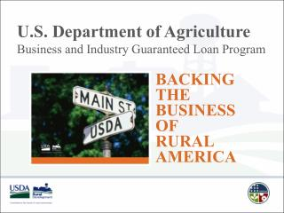 U.S. Department of Agriculture Business and Industry Guaranteed Loan Program