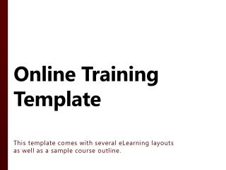 Online Training Template