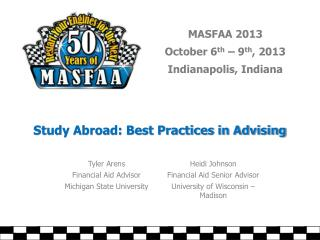Study Abroad: Best Practices in Advising