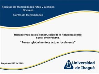 Facultad de Humanidades Artes y Ciencias Sociales Centro de Humanidades